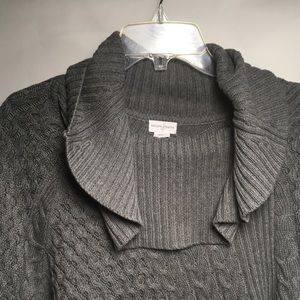 Jaclyn Smith - Cowl Neck Cotton Pullover / Shawl
